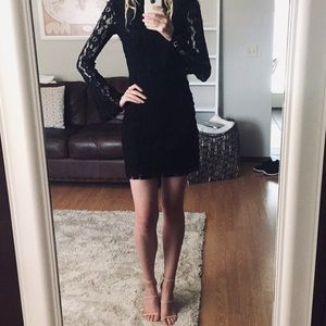 NWOT INC Black Lace Dress